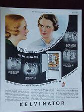 1935 Kelvinator Refrigerator  Why Do I Need One Advertisement