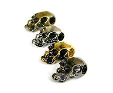 20 Skull Beads Horizontal Hole Paracord/Leather Bracelets & Lanyards - US Seller