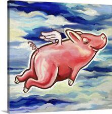 Flying Pig Canvas Art Print
