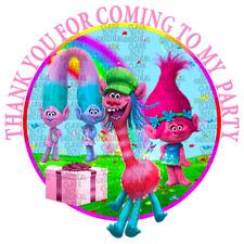 70 X Pegatinas trols Personalizado Fiesta Cumpleaños Etiquetas De Cono recompensas favores
