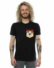 Looney Tunes Men's Tasmanian Devil Face Faux Pocket T-Shirt