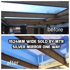 Insulating Silver Mirror Conservatory & Window Film - Keep 66% Heat In - DIY