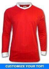 Ichnos team kit long sleeves football shirt red - custom print available