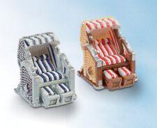 Mini Strandkorb - blau/weiß-rot/weiß Deko-Tortenaufsatz Badezimmerdeko 3,5 x cm