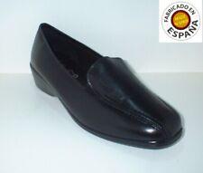 Zapato cuña piel color Burdeos, Negro o Marrón tallas 36 a 41