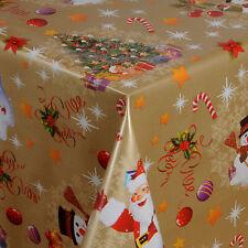 Wachstuch Tischdecke Weihnachten Weihnachtsbaum gold 01188-01 eckig rund oval