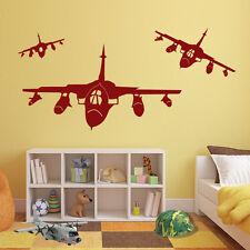 Army Militare Aereo Jet Decalcomania Grande Murale Adesivo Vinile Bambini Arredamento AEREO a41