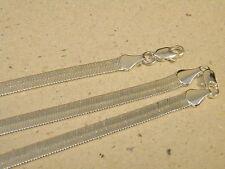 Men's Lady's Silver Plated Herringbone 24in Long 6mm Chain & 8in Bracelet Set