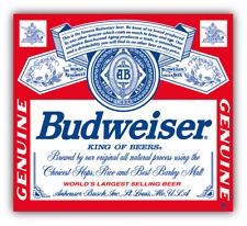 Budweiser Genuine Beer Logo Car Bumper Sticker Decal - 9'', 12'' or 14''
