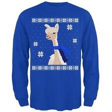 Big Alpaca Scarf Ugly Christmas Sweater Mens Long Sleeve T Shirt