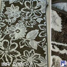 Teppich Läufer mit Flair: *Infi Romance dunkelbraun* 80 cm breit gewebt NEU