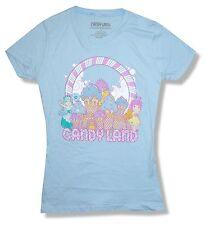 "CANDYLAND ""ICE CREAM"" GIRLS JUNIORS LIGHT BLUE T SHIRT NEW OFFICIAL GAME"