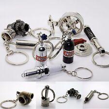 Luxus Schlüsselanhänger - Gasflasche NOS Metall Felge Hupe Anhänger Schlüssel