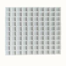 Empty White Plastic Watercolor Paint Pans 10/50/100Pcs  Half Pans