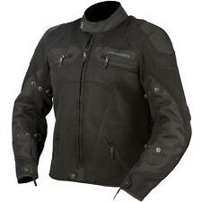 ARMR MOTO AZAI TEXTILE CE ARMOURED WATERPROOF MESH MOTORCYCLE JACKET BLACK T