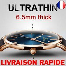Montre Top Marque Luxe Ultra-mince Bracelet Homme Femme Cadeau Bijoux Mince