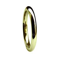 2mm 9 ct Oro Amarillo Corte Confort Alianzas Muy Pesado 2,1g HM 375 Banda H-Q