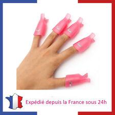 10 Pinces de Dépose pour Venis Semi Permanent Vernis Gel UV LED Manucure