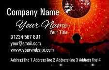 Orange Red Dj Personalised Business Cards