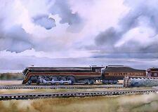 Norfolk & Western No. 611 Streamliner Steam Locomotive at Spencer Railroad Print