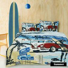 Summer Marine Surf Combi Van Quilt / Duvet Cover Set SINGLE DOUBLE QUEEN KING