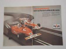 advertising Pubblicità 1977 POLISTIL FERRARI/MC LAREN