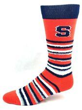 wholesale dealer 1fa2f 897eb Syracuse Orangemen For Bare Feet Muchas Rayas Fuzzy Crew Socks