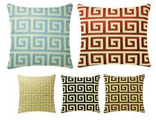 Motif Géométrique Carré 43.2x43.2cm Housse de coussin d'oreiller pour sofa lit