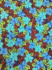 Hawaiian Floral Design on Nylon Spandex Medium Weight 4 ways Stretch Fabric