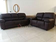 divano imbottito 2 posti e 3 posti in ecopelle pelle salotto sofà divani salotti