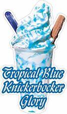 KNICKERBOCKER GLORY TROPICAL BLUE, ICE CREAM, STICKER, DIE-CUT UV LAMINATED