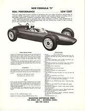 "Quantum  Single Sheet  Formula ""S""  Racing Car  Circa 1964"