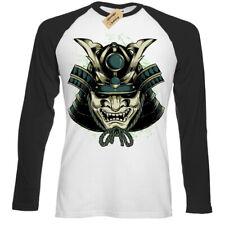 Shogun Mask T-Shirt japanese samurai Baseball T-Shirt