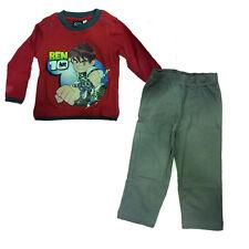 BEN 10 pijama largo mitad temporada de algodón rojo y gris con estampado en dav