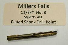 "11/64"" No.8 Millers Falls  Fluted Bit Fits Goodell-Pratt"