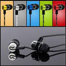 Braided Line Headset Earbuds Stereo Bass 3.5mm Headphone Earphones In-Ear Sport