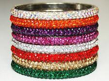 Gorgeous Sparkly Fabulous Diamante Rhinestone Crystal Bangles Beautiful Colours