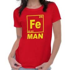 Fe Iron Man Funny Shirt Cool Gift Idea Cute Nerd Geek Marvel Womens T Shirt