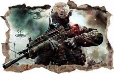 CALL OF DUTY WANDAUFKLEBER Loch in der Wand 3D Wandtattoo Counter Strike 69