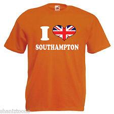 I Love Heart Southampton Adults Mens T Shirt 12 Colours Size S - 3XL