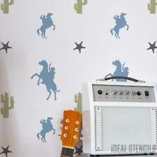 Cowboy & Cactus motivo Stampo, cameretta ragazzi Decorazione muro, personalizza