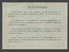 HOLLAND 1913 bloemendaal risposta pagata coupon 14 quater + handstamp REVERSE