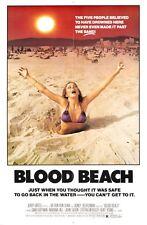BLOOD BEACH B-MOVIE REPRODUCTION ART PRINT A4 A3 A2 A1