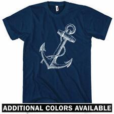 Anchor T-shirt - Men S-4X - Gift Hipster Nautical Marine Navy Beach Pirate