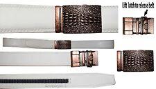 Men's belt, Genuine Leather Dress Casual New Crocodile skin printed Buckle