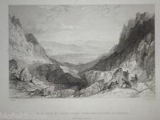 Cairn Gorm Pass Towards Aviemore : Original 1837 Antiquarian Scottish Engraving