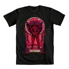 Marvel Comics Deadpool Nouveau Deadpooley Adult Black T-Shirt