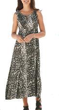 UK Sizes 8 - 32 eu 36-60 Ladies Brown Beige Gold Lined Empire Sleeveless Dress