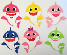 Baby Shark Cardstock Paper Die Cut Party Embellishment Scrapbook Cardmaking