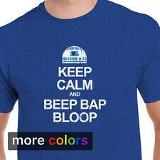 Star Wars KEEP CALM BEEP R2-D2 Mens T-shirt, R2D2 Empire Darth Vader Jedi Tee